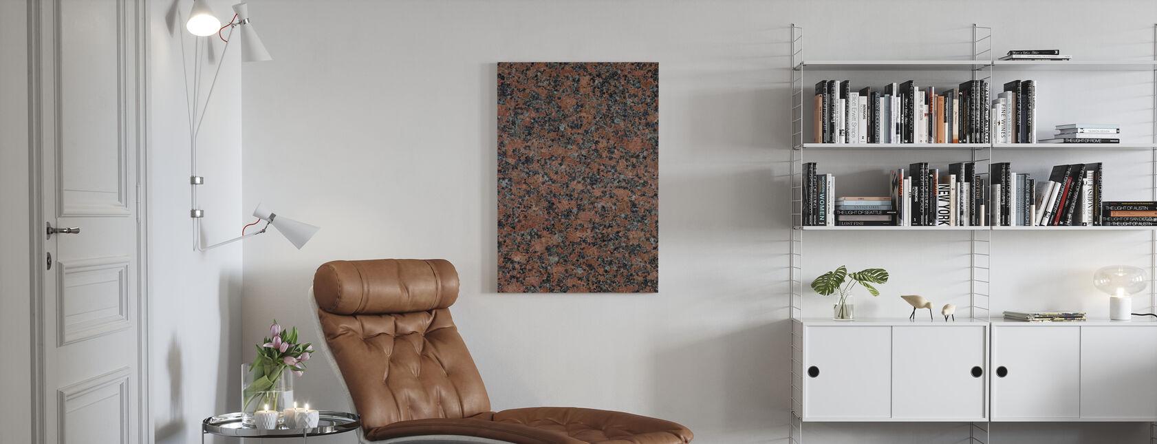 Black and Brown Granite - Canvas print - Living Room