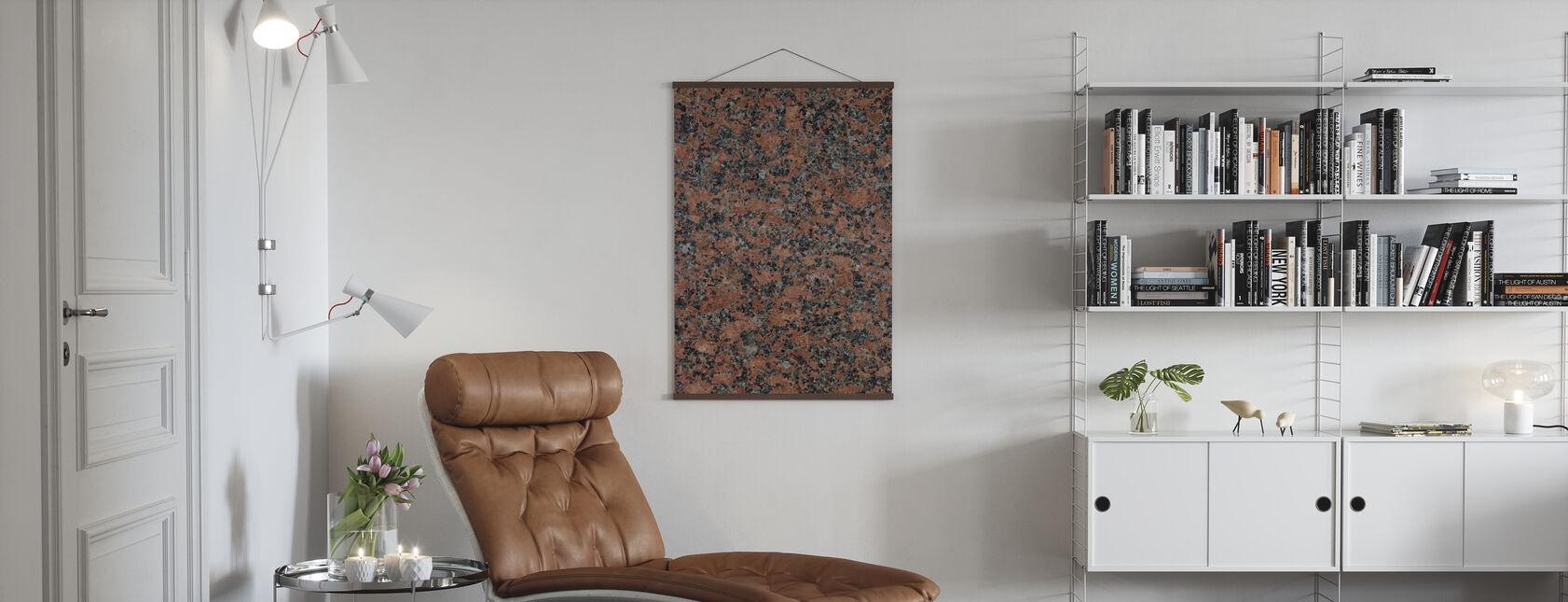 Svart och brun granit - Poster - Vardagsrum