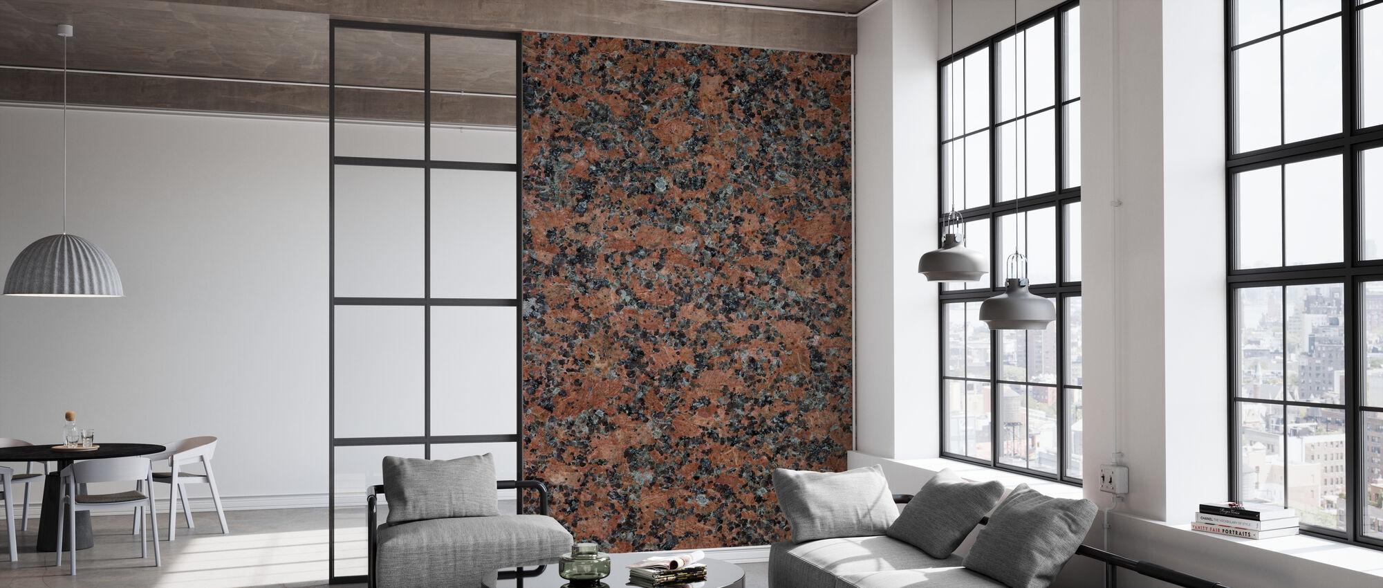 Black and Brown Granite - Wallpaper - Office