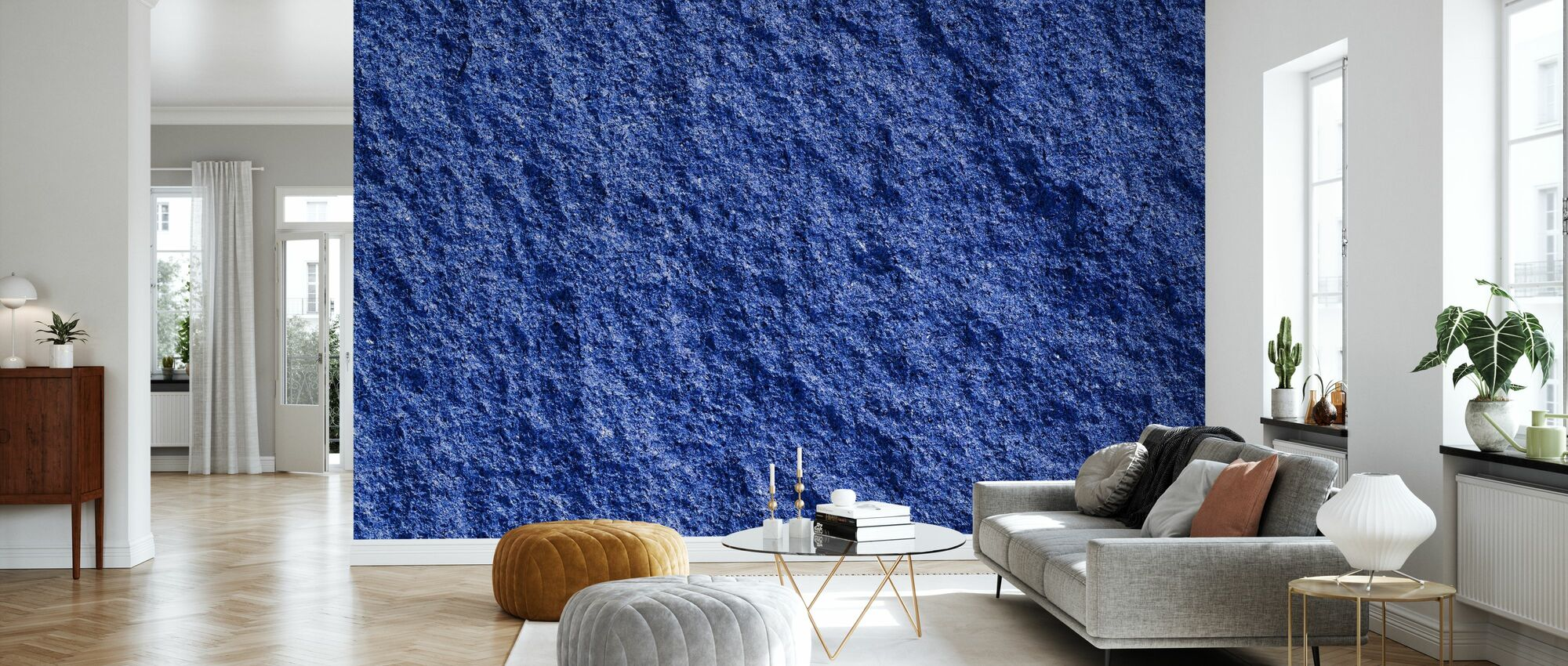 Blauer Granit - Tapete - Wohnzimmer