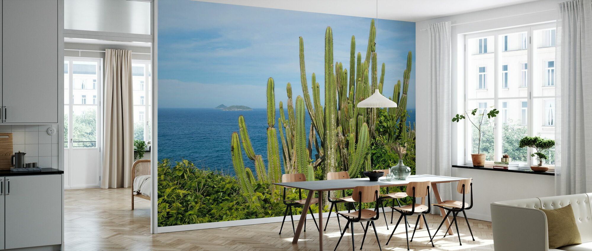 Cactus with a View - Wallpaper - Kitchen