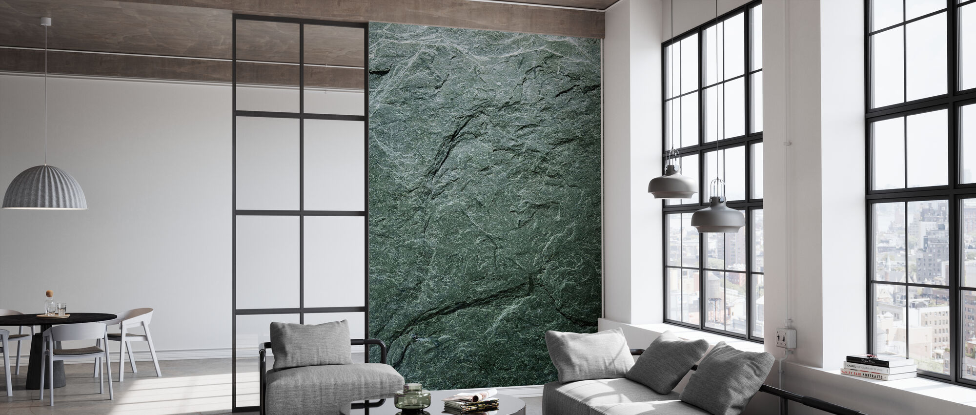 Greengray Slate - Wallpaper - Office