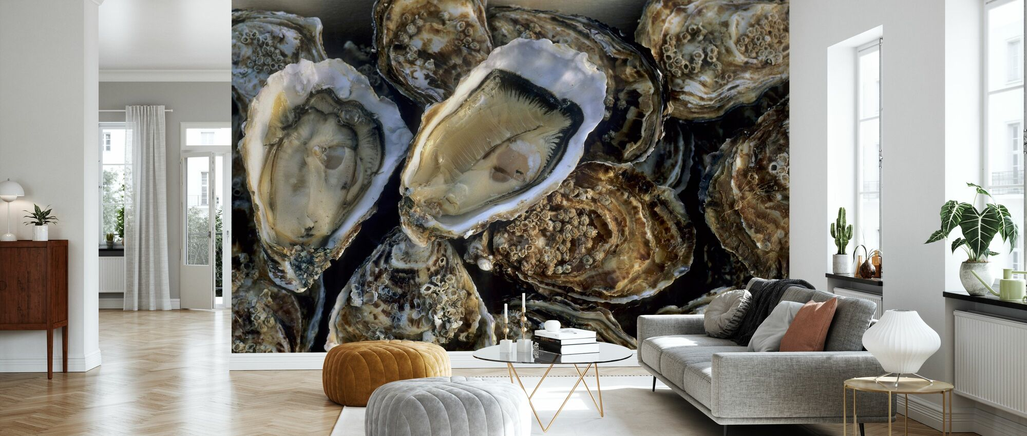 Oysters - Wallpaper - Living Room