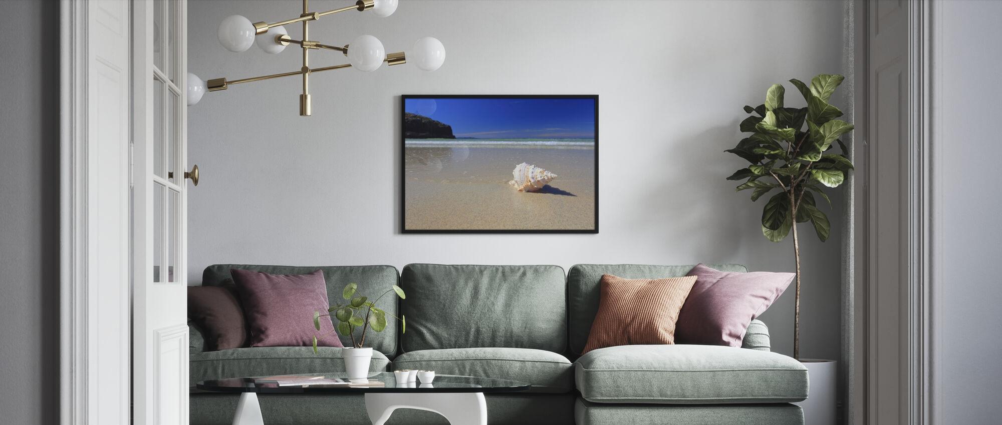 Shell on Beach - Framed print - Living Room