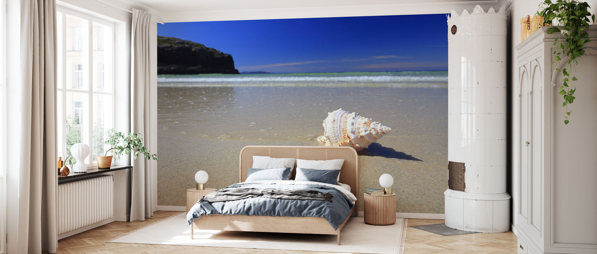 Muschel am Strand - Tapete - Schlafzimmer