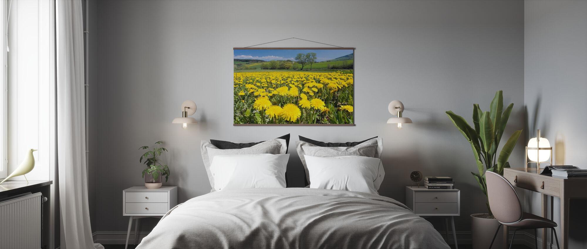 Spring Landscape with Dandelions - Poster - Bedroom