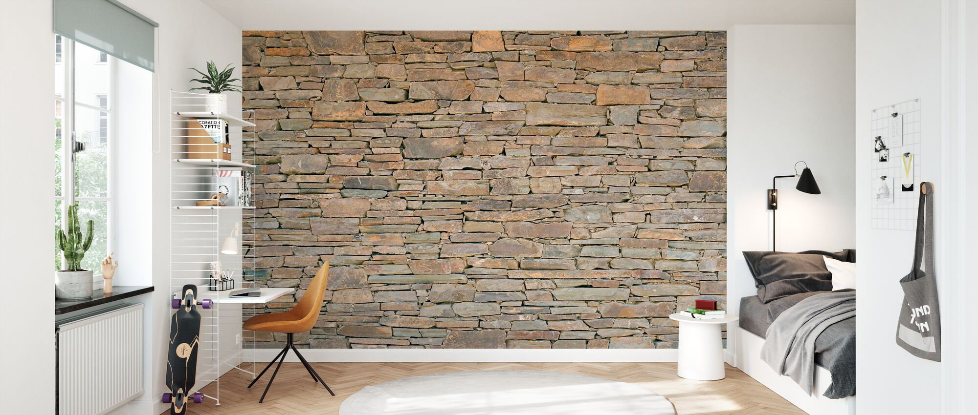 Stacked Stone Mur - Tapet - Børneværelse