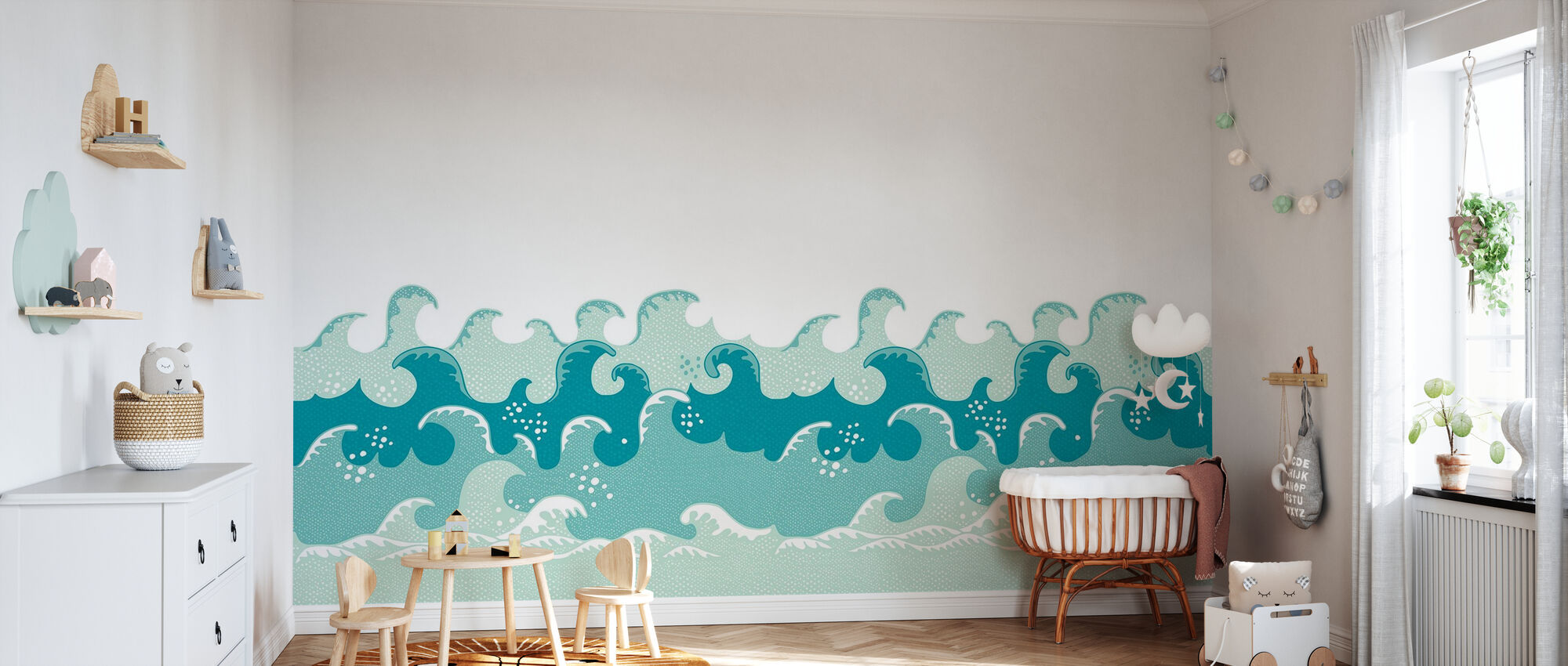 Waves Blur - Wallpaper - Nursery