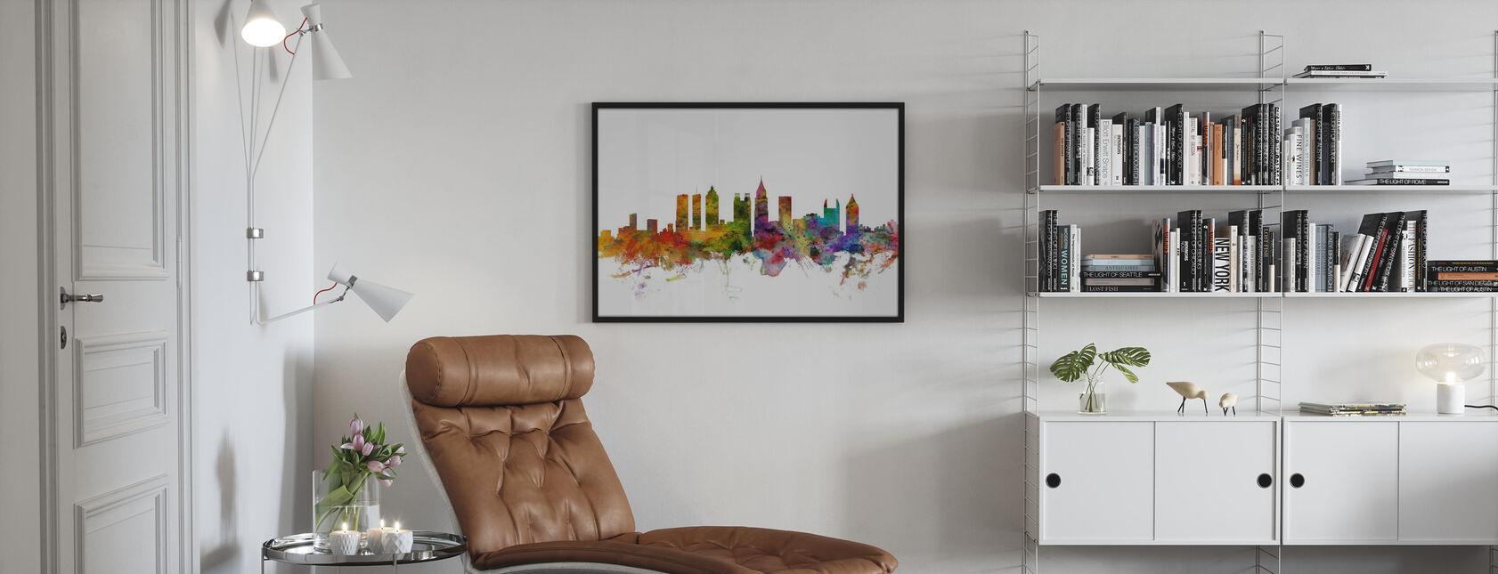 Atlanta Georgia Skyline - Framed print - Living Room