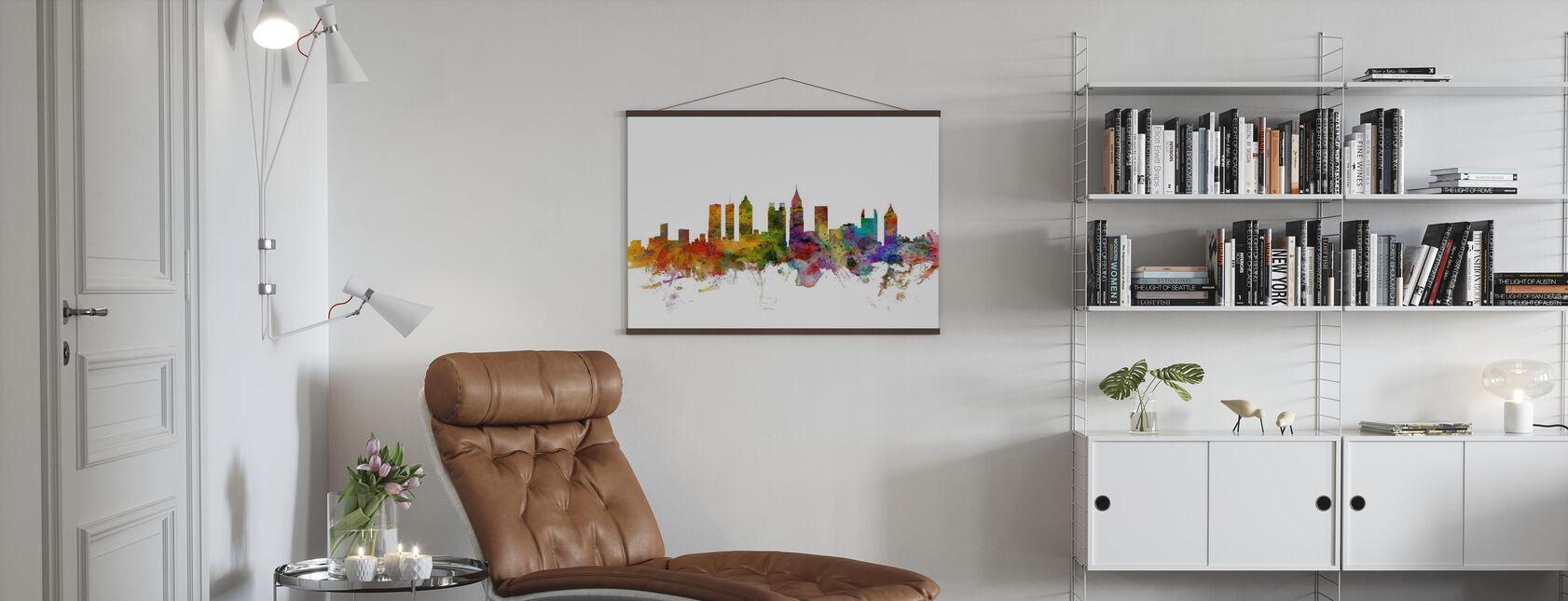 Atlanta Georgia Skyline - Poster - Living Room