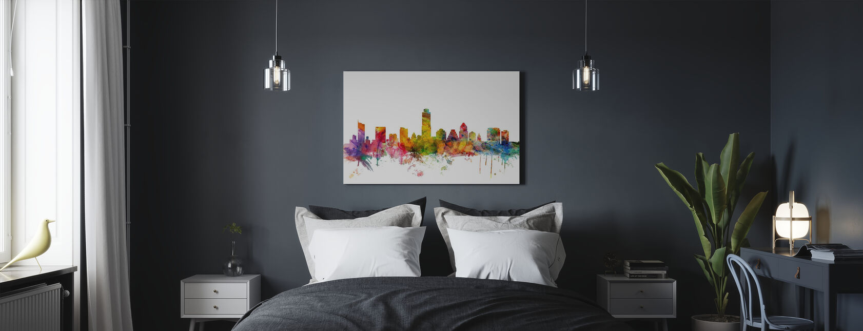 Austin Texas Skyline - Canvas print - Bedroom
