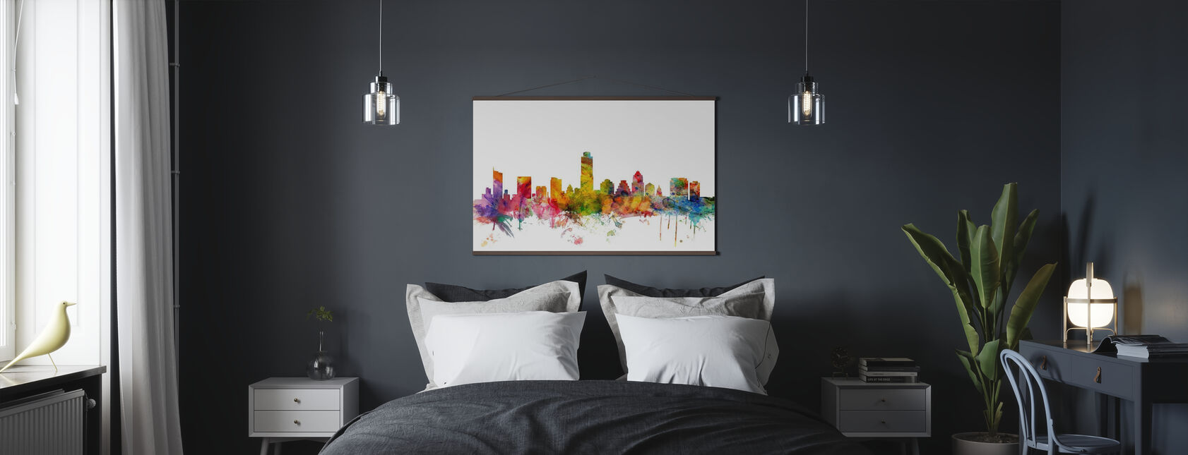 Austin Texas Skyline - Poster - Slaapkamer