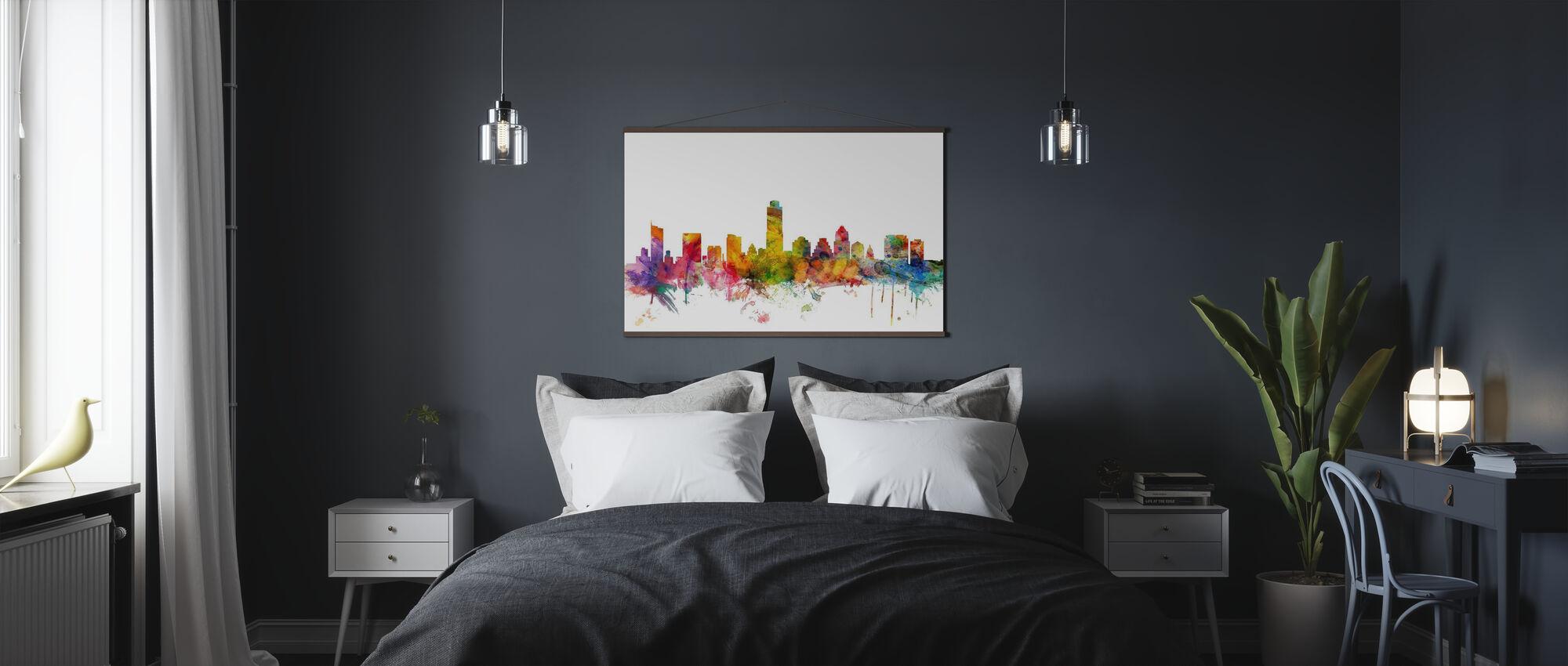 Austin Texas Skyline - Plakat - Soverom