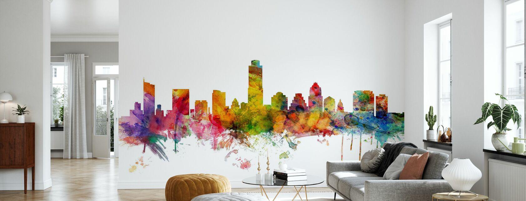 Skyline von Austin - Tapete - Wohnzimmer