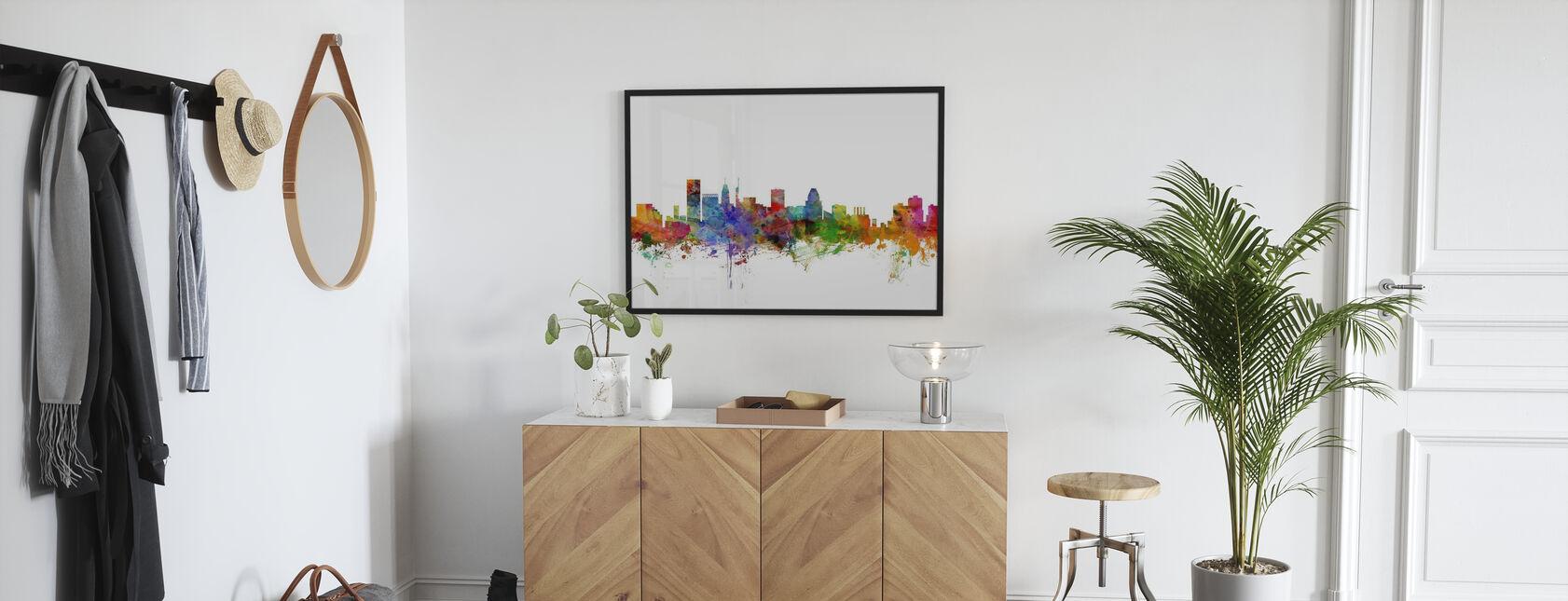 Baltimore Maryland Skyline - Framed print - Hallway