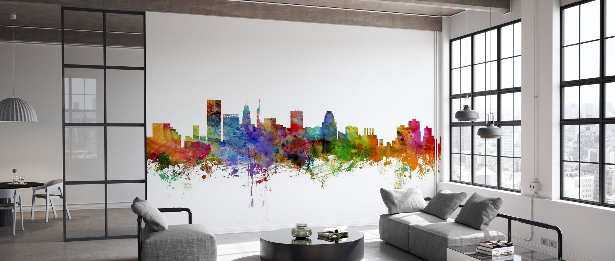 Baltimore Maryland Skyline - Wallpaper - Office