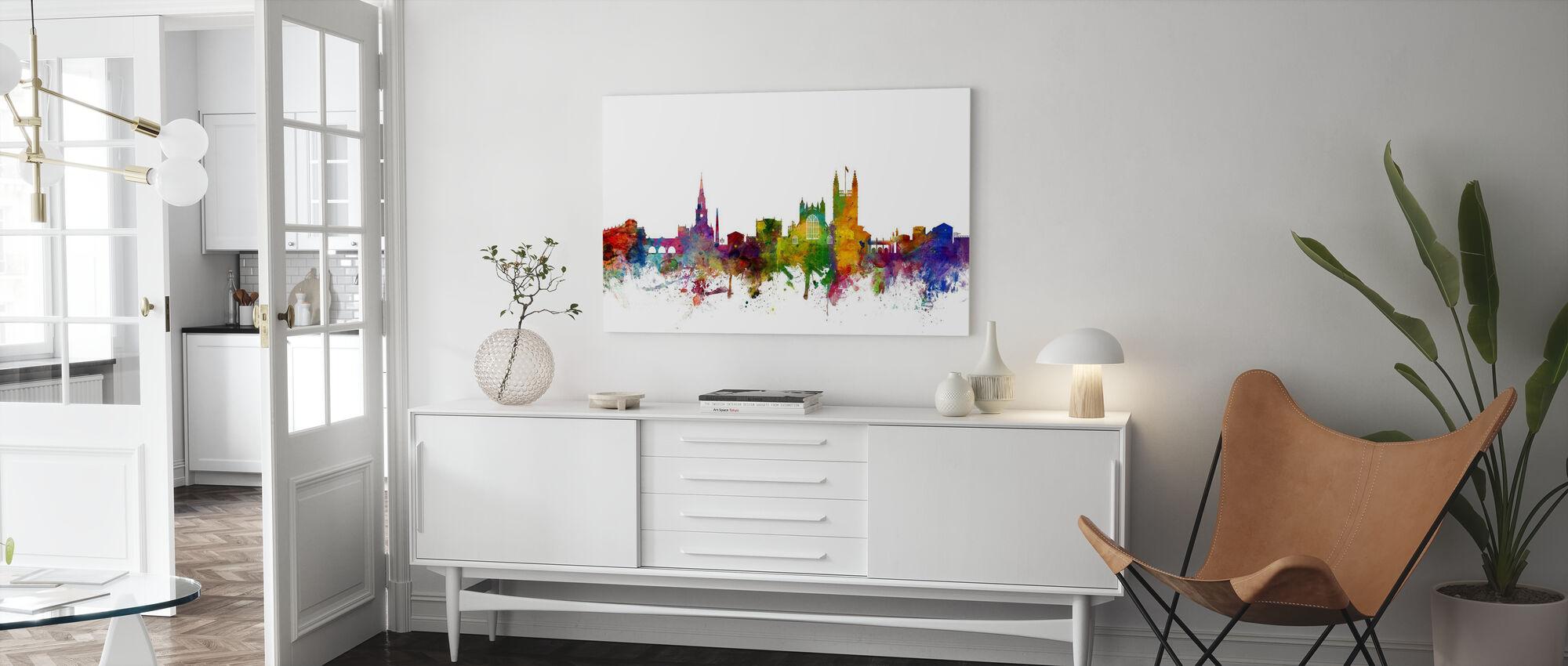 Bath England Skyline - Canvas print - Living Room