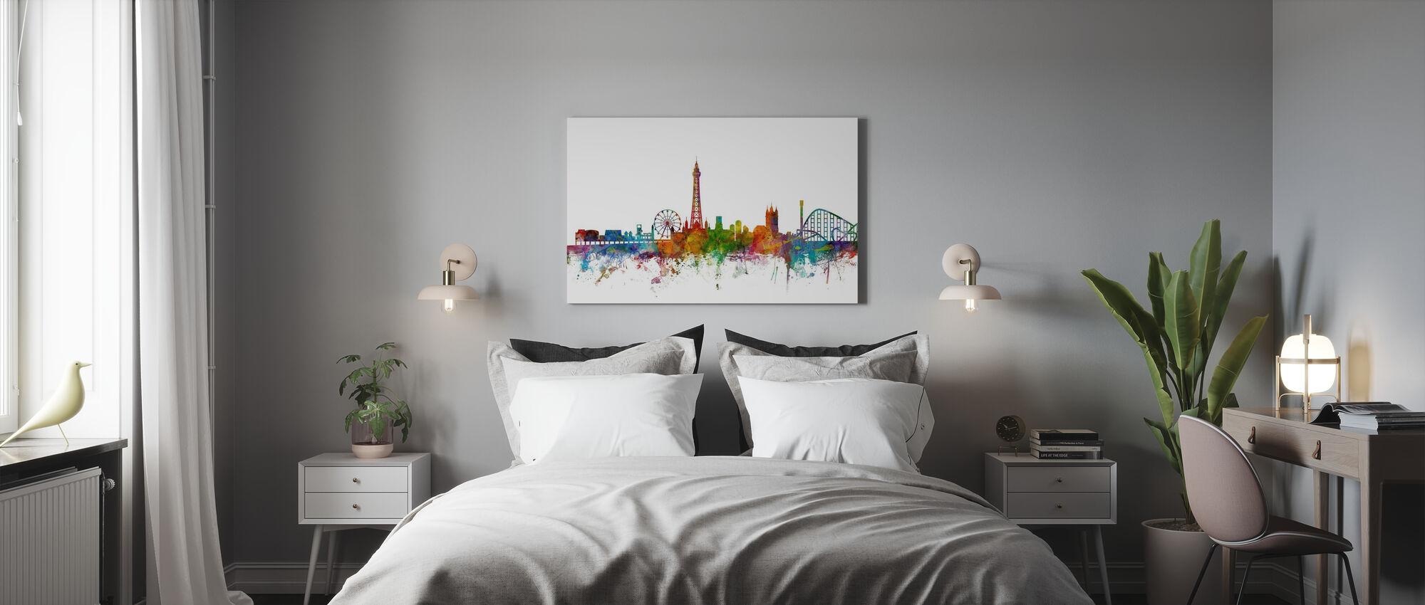 Blackpool England Skyline - Canvas print - Bedroom