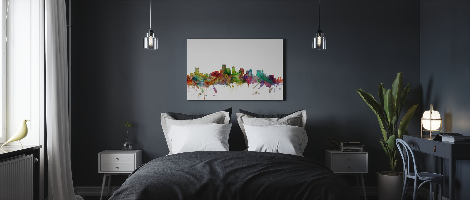 Boston Massachusetts Skyline - Canvas print - Bedroom