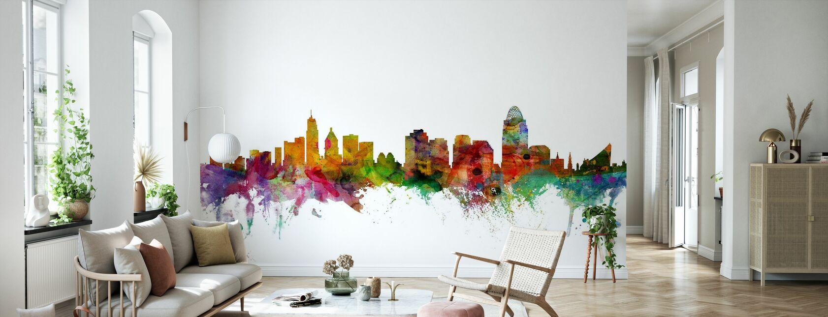 Skyline von Cincinnati - Tapete - Wohnzimmer