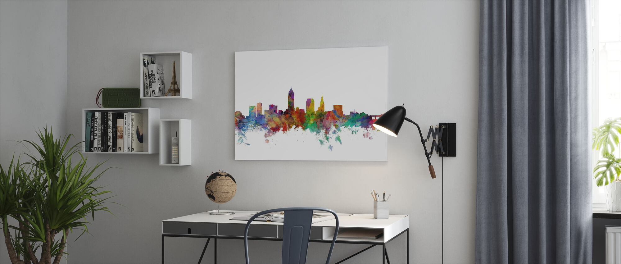 Cleveland Ohio Skyline - Canvas print - Office