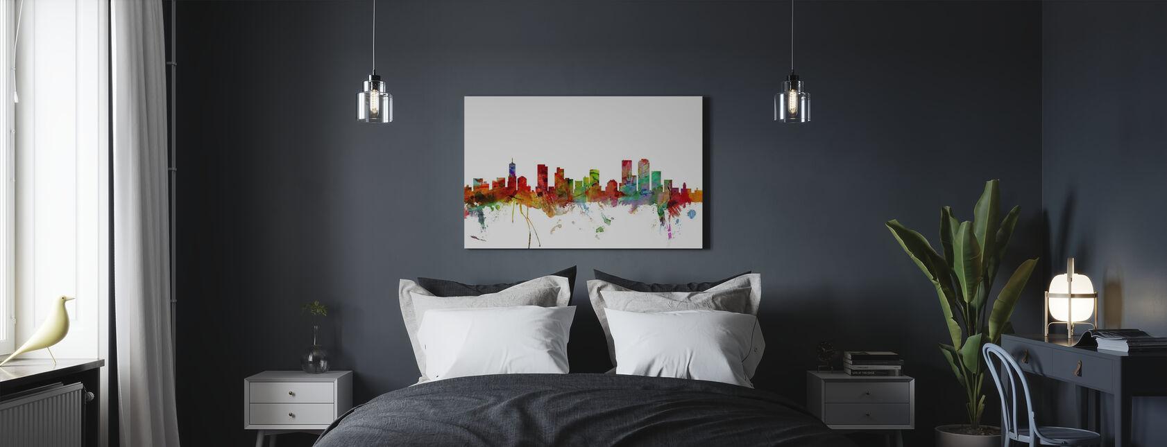Denver Colorado Skyline - Canvas print - Bedroom