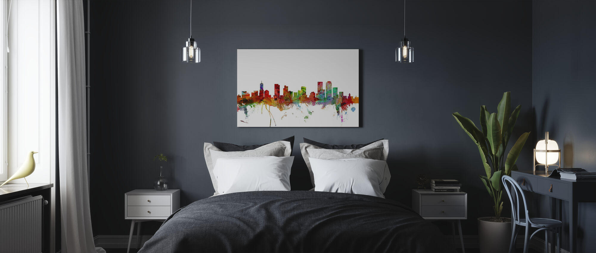 Denver Colorado Skyline - Canvas print - Bedroom