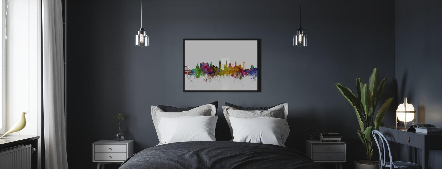 Glasgow Scotland Skyline - Poster - Bedroom