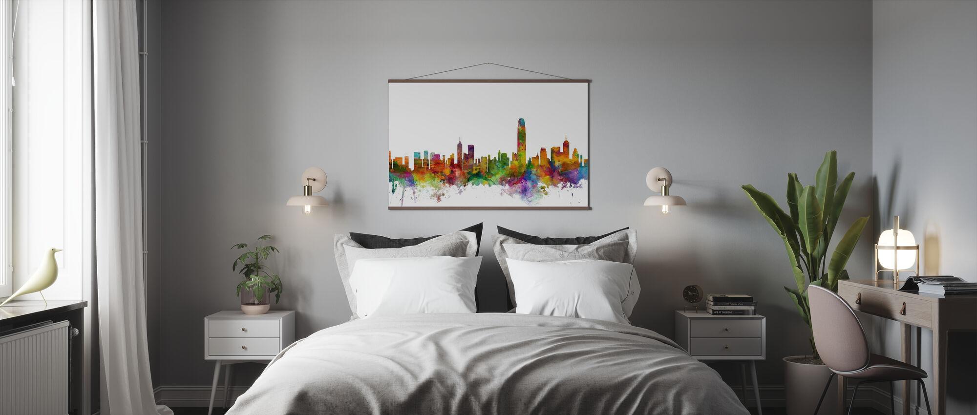Skyline von Hongkong - Poster - Schlafzimmer