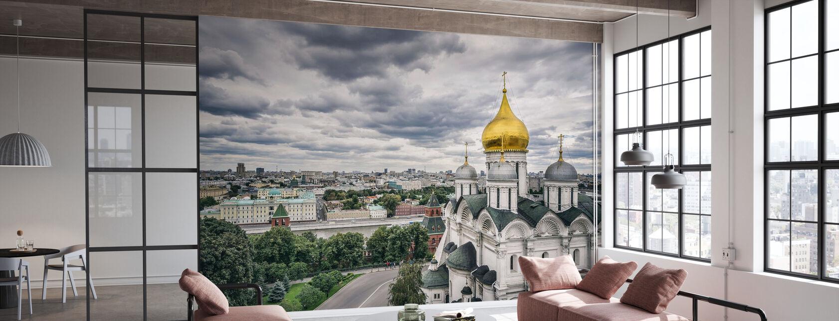 Grey Sky over Kremlin - Wallpaper - Office