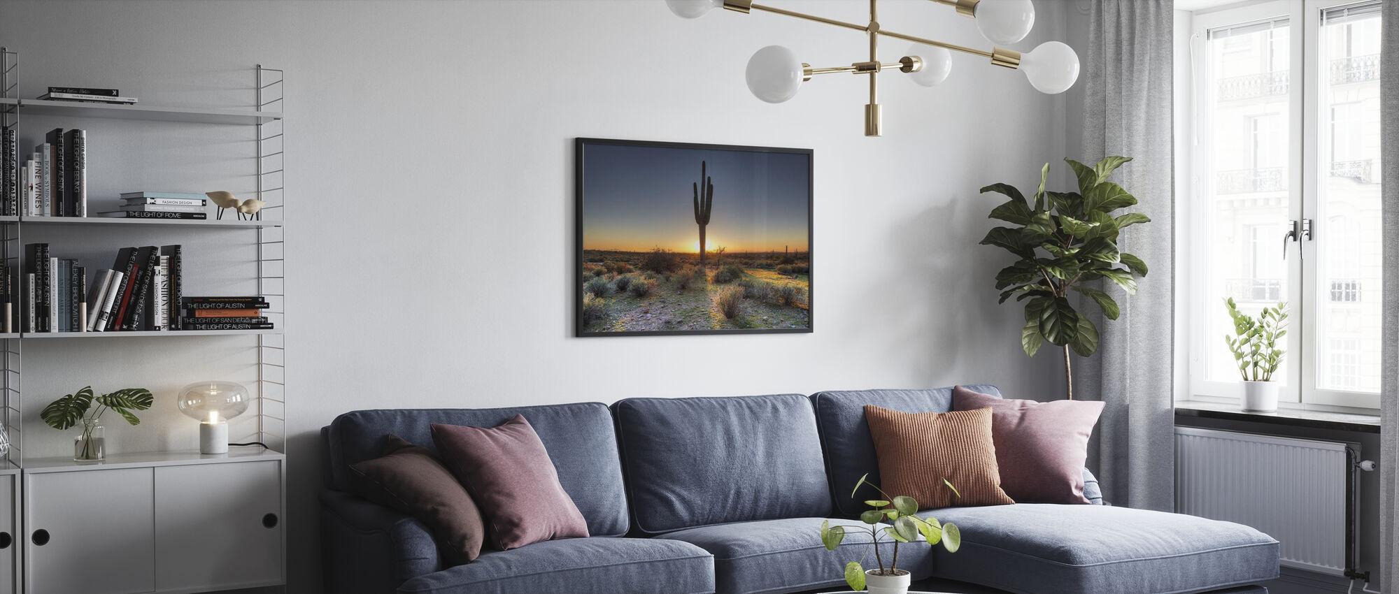 ørken solnedgang - Plakat - Stue