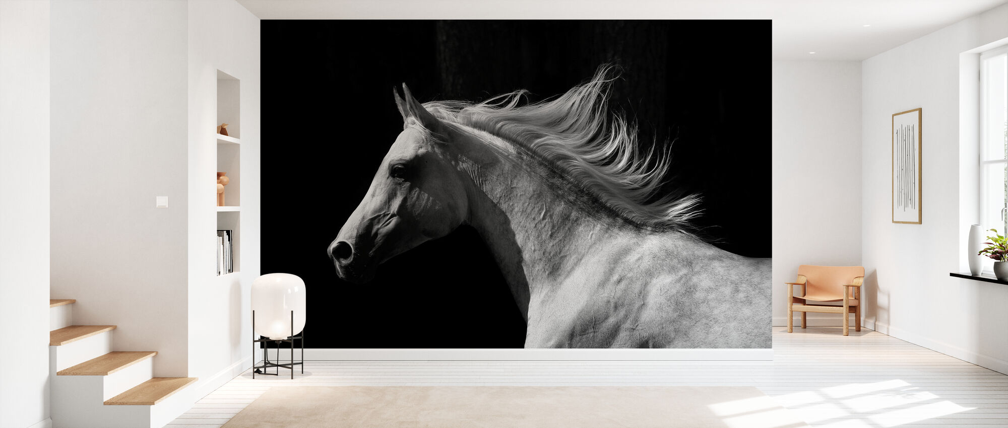 Gray Arab Stallion - Wallpaper - Hallway