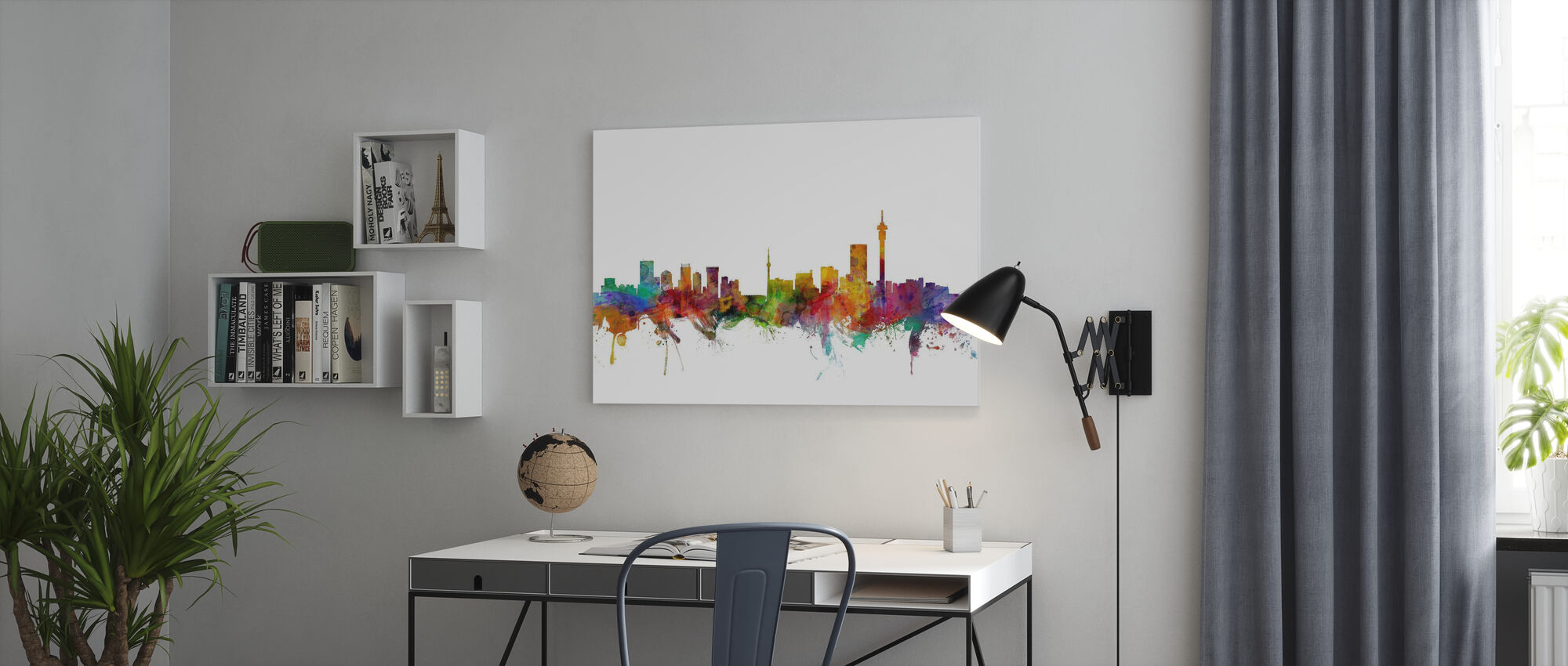 Johannesburg Zuid Afrika Skyline - Canvas print - Kantoor