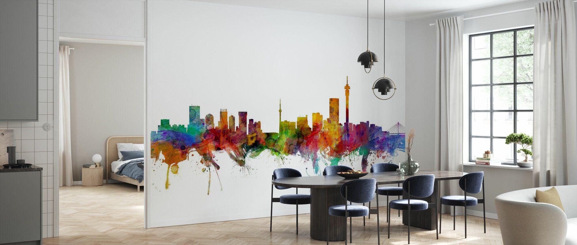 Johannesburg Etelä-Afrikka Skyline - Tapetti - Keittiö