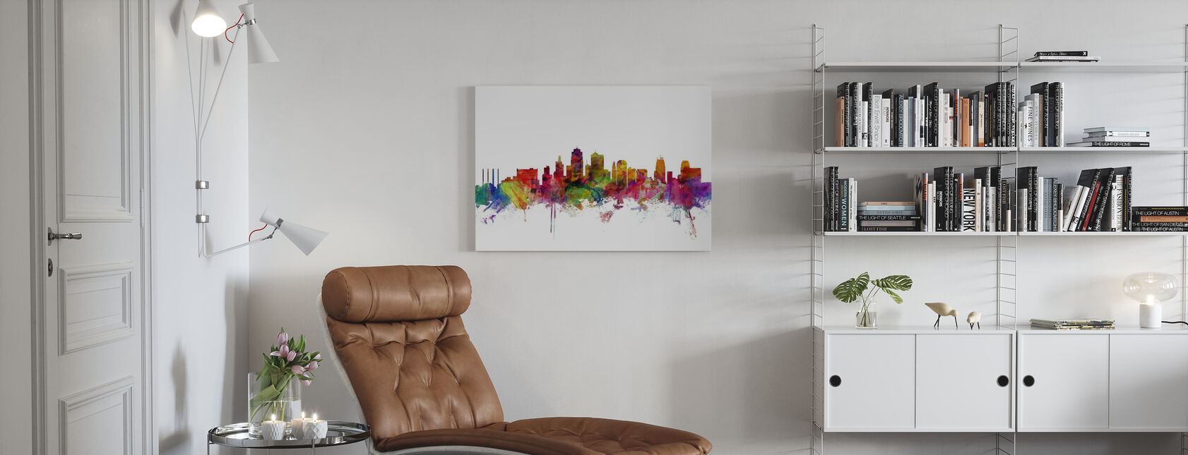 Kansas City Skyline - Canvas print - Living Room