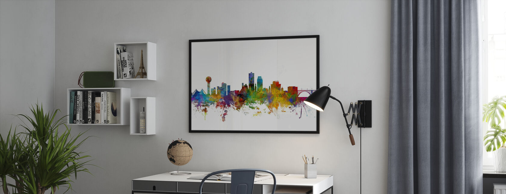 Skyline von Knoxville Tennessee - Poster - Büro