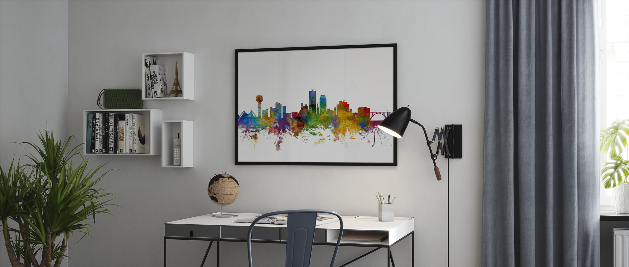 Knoxville Tennessee Skyline - Poster - Office