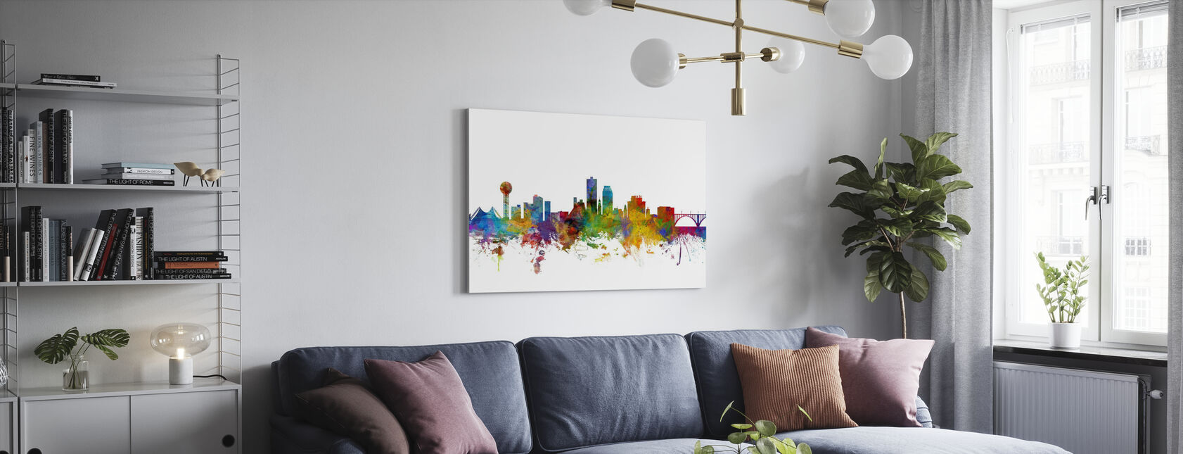 Knoxville Tennessee - Canvas print - Woonkamer