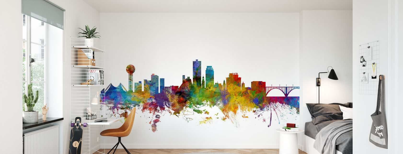 Knoxville Tennessee Skyline - Wallpaper - Kids Room