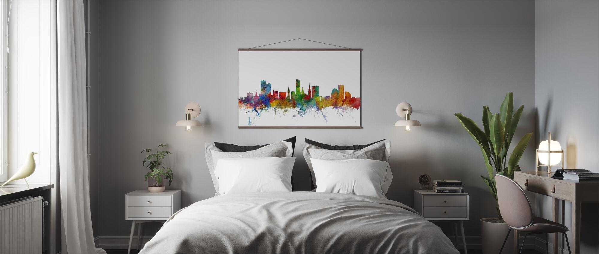 Leicester England Skyline - Poster - Bedroom