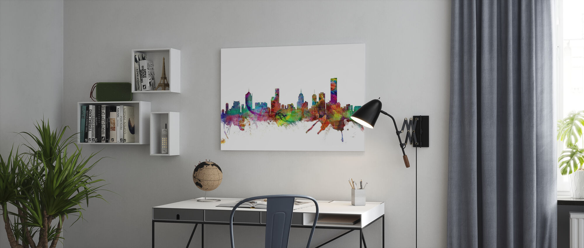 Melbourne Skyline - Canvas print - Kantoor