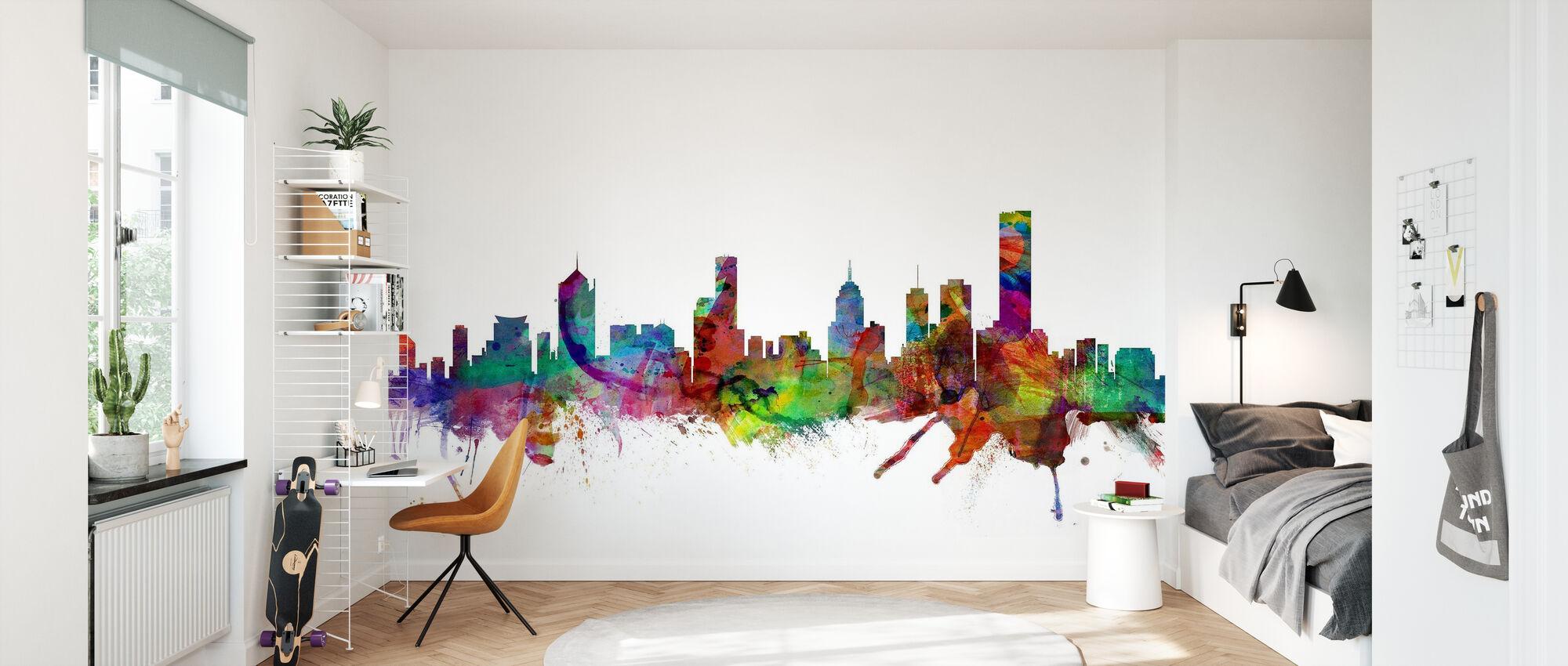 Melbourne Skyline - Wallpaper - Kids Room