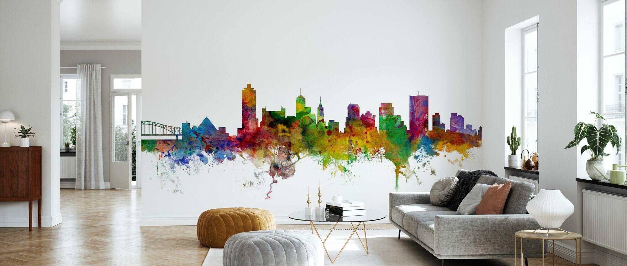 Memphis Tennessee Skyline - Wallpaper - Living Room