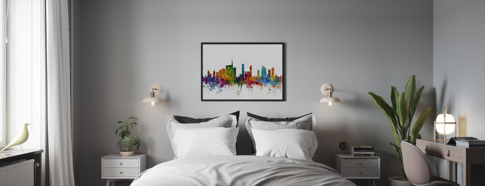 Skyline di Milano - Stampa incorniciata - Camera da letto