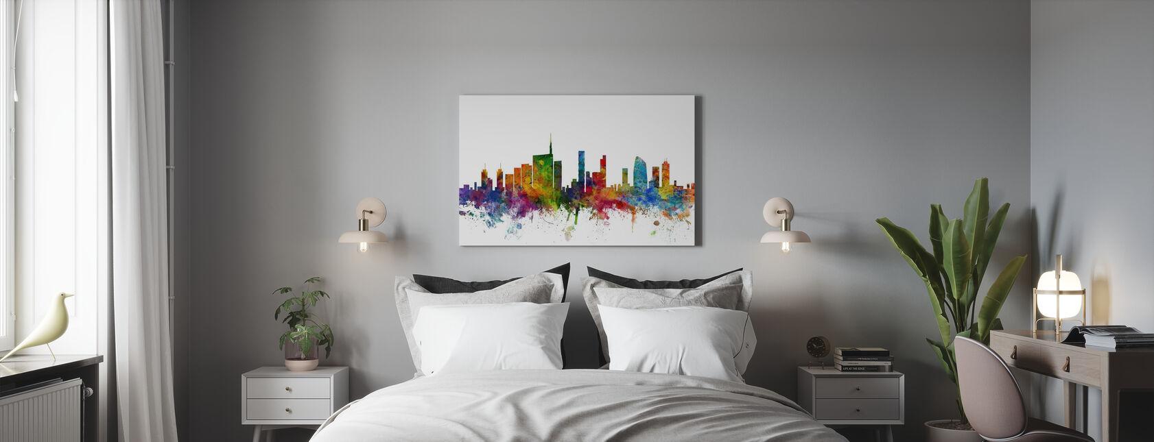 Skyline di Milano - Stampa su tela - Camera da letto