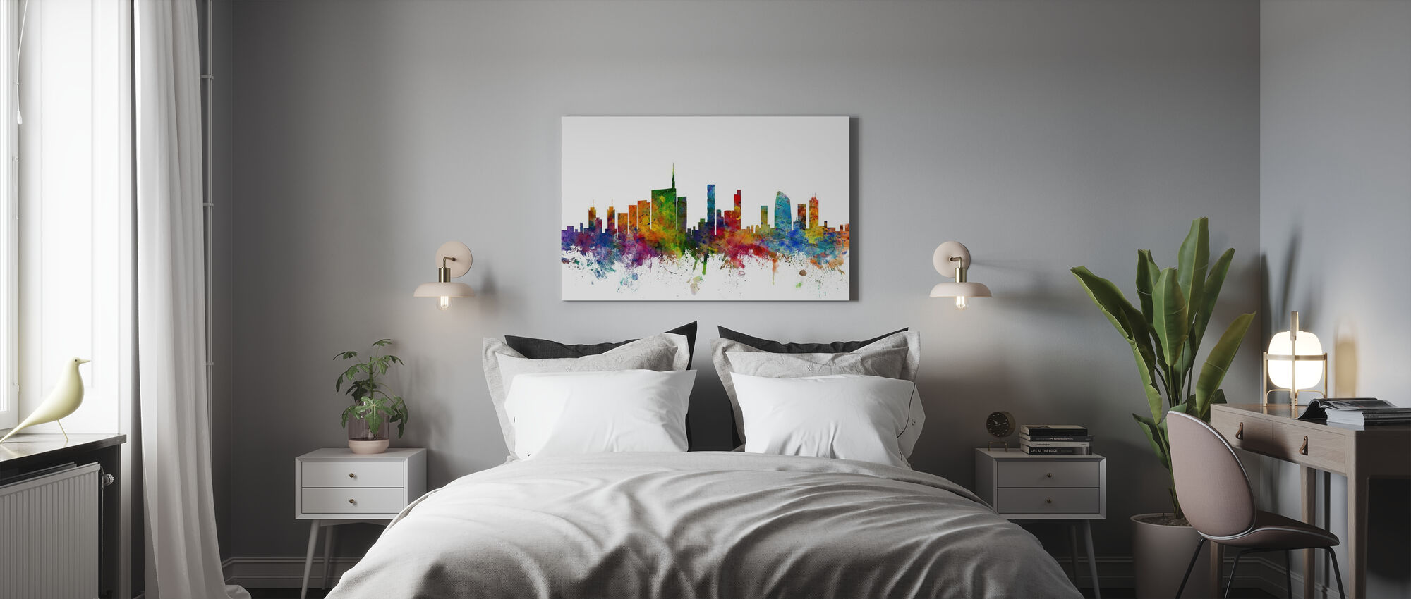 Milan Skyline - Canvas print - Bedroom