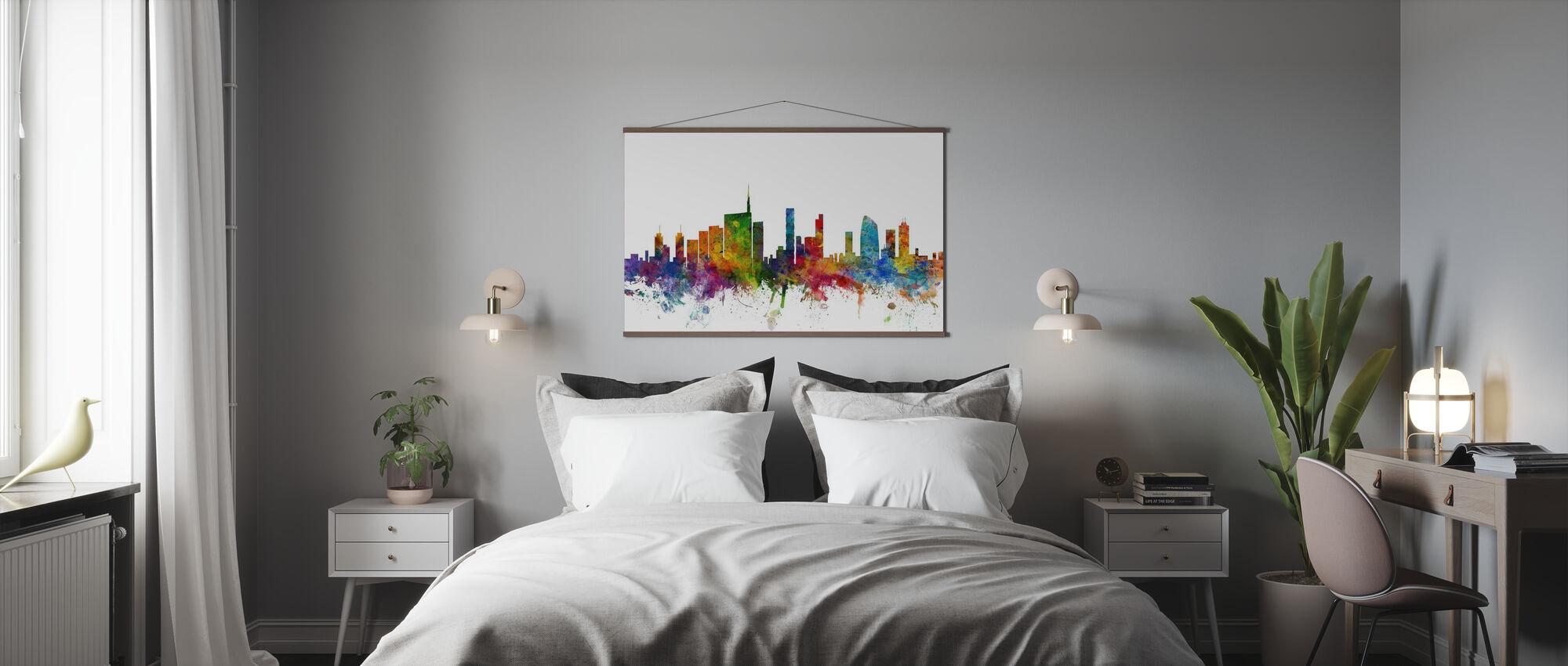 Milan Skyline - Poster - Bedroom