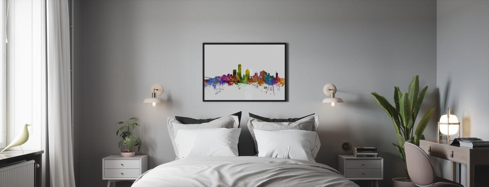 Milwaukee Wisconsin skyline - Plakat - Soverom