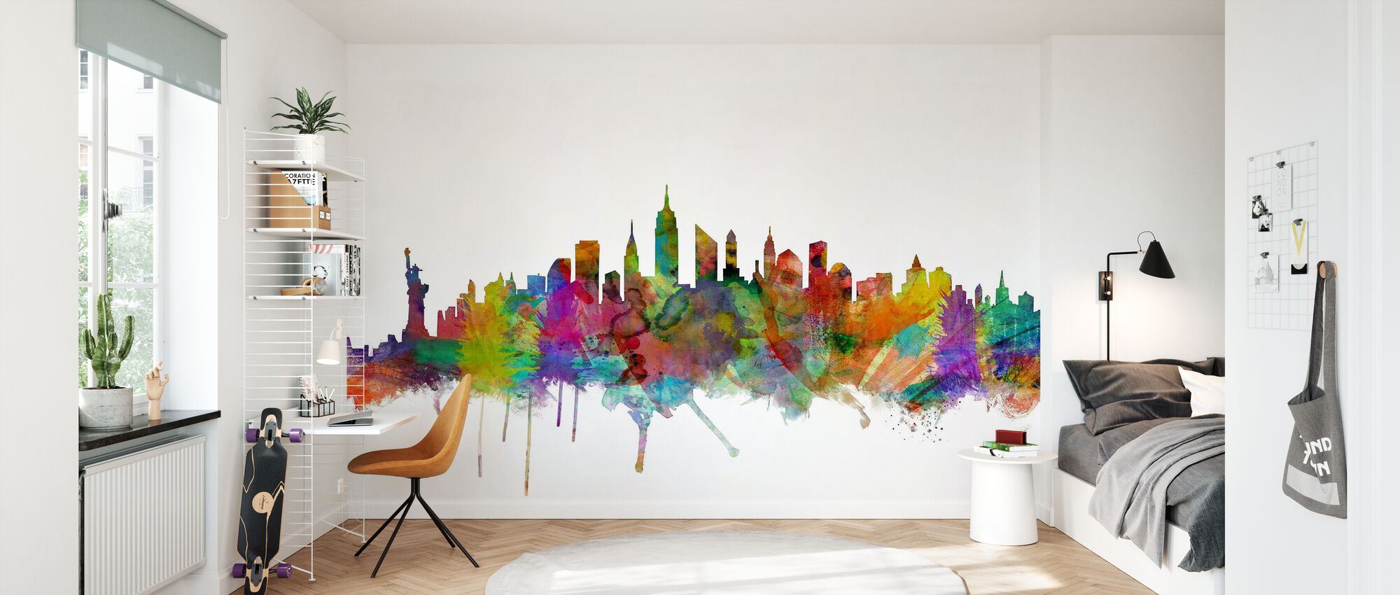 New York Skyline 2 - Tapet - Barnerom
