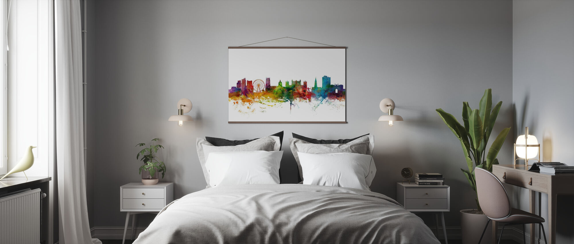 Nottingham England Skyline - Poster - Bedroom
